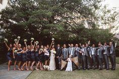 Collin & Tyler | William Aiken House | The Wedding Row | The Wedding Row. #LulaKate bridesmaid dresses.