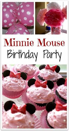 Minnie mouse cupcakes using mini oreos for ears and starbursts for the bows. - My WordPress Website Minnie Birthday, Minnie Mouse Party, Mouse Parties, Birthday Fun, First Birthday Parties, First Birthdays, Birthday Ideas, Princess Pinky Girl, Mini Oreos