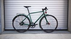 veloheld.lane in moss green powdercoating with Nuvinci hub, Gates Carbon Drive, SON Lighting, Magura Brakes…
