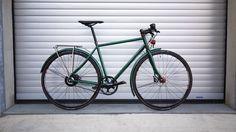 veloheld.lane in moss green powdercoating with Nuvinci hub, Gates Carbon Drive, SON Lighting, Magura Brakes…