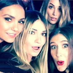 """Lauren Paul looked pumped ahead of the Super Bowl when she teamed up with her gal pals, including """"Vampire Diaries"""" star Nina Dobrev (l.). """"Superbowl buns,"""" Paul captioned the snap on Feb. 1, 2015."""