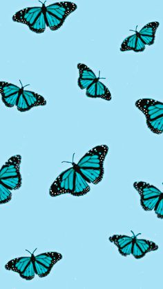 Blue Aesthetic Butterfly Wallpaper #MadeWithPicsArt