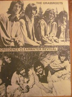 The Grass Roots, Creedence Clearwater Revival, Full Page Vintage Pinup