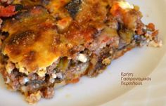 Greek Recipes, Eggplant, Lasagna, Quiche, Deserts, Food And Drink, Pizza, Stuffed Peppers, Meat