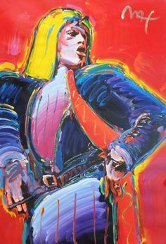 Mick Jagger   Unique 1988  by Peter Max