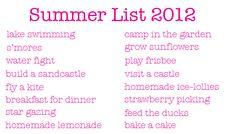 Make a summer list