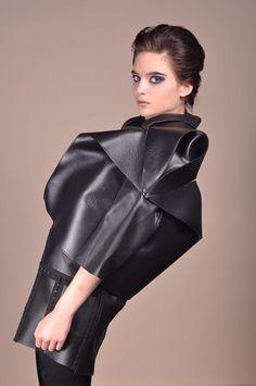 Sophie#marionnet#origami#leather#jacket Origami, Leather Jacket, Studio, Jackets, Fashion, Leather, Embroidery, Dress, Studded Leather Jacket