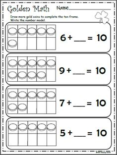 Free Math Counting Worksheet - Clover Counting | Kindergarten ...