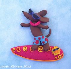 Friday:Shades (on Hang Eight Doxie) Polymer Clay by Katie Kinnear on flickr