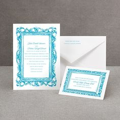thermography wedding invitation I fabulous frames I under $70 for 100 and available in any color
