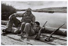 Ernest Hemingway & his son.