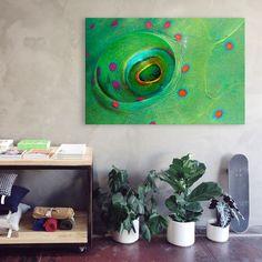 Fish eye als [attribute_code] kaufen Door Handles, New Homes, Fish, Eyes, Smartphone, Handmade, Painting, Inspiration, Cover