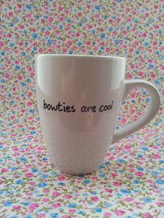 Hand decorated stoneware mug Dr Who quote by JuliebubsMakes, £3.00