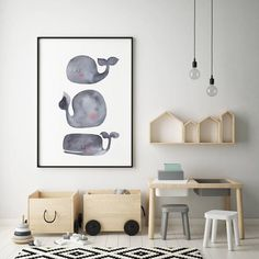Gray Baby Whale Nursery Art Print Ocean Art Print, Watercolour Whale Print, Grey Whale Print, Watercolour Whale Art, Baby Animal Art – Kinderzimmer Inspiration - To Have a Nice Day Whale Painting, Watercolor Whale, Whale Nursery, Baby Whale, Nursery Prints, Nursery Art, Forest Nursery, Whale Print, Kids Room Design