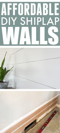 Ship Lap Walls, Diy Projects, Handyman Projects, Handmade Crafts, Diy Crafts
