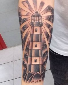 #lighthousetattoo #traditionalblackworktattoo #tattoo #tattoohamburg…