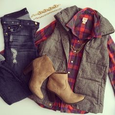 Flannel with vest