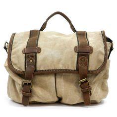 New Camel Vintage Military Shoulder Messenger Canvas Bag European School Bag 013 | eBay