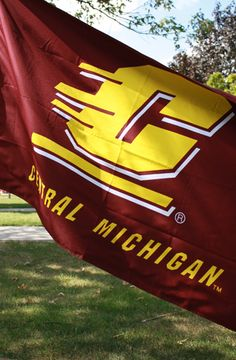 Complete your tailgate spot with this Maroon Double Sided Flag Central Michigan University, Bookstores, Great Lakes, Flag, Chips, College, Wallpapers, Sweet, Sports