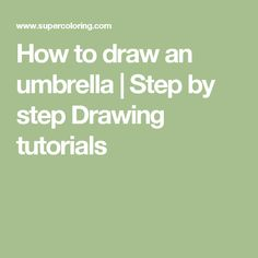 How to draw an umbrella | Step by step Drawing tutorials