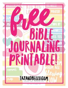 Free Bible Journaling Printable + January by the Numbers