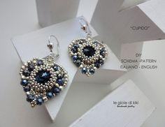 DIY Schema Cupid earrings by Legioiedikiki on Etsy Bead Jewellery, Seed Bead Jewelry, Seed Bead Earrings, Diy Earrings, Beaded Jewelry, Beaded Earrings Patterns, Jewelry Patterns, Jewelry Crafts, Jewelry Art