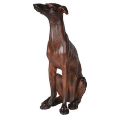 The Feathered Nest - Brown Sitting Whippet Carved Mahogany Effect Dog Statue - brown - Brown/Brown Wildlife Photography, Animal Photography, Baby Otters, Cute Baby Animals, Wild Animals, Siberian Tiger, Snow Leopard, Big Cats, Tiger Cubs