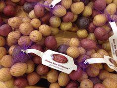 Baby Potatoes on display