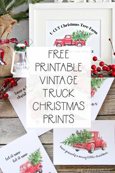 Vintage Trucks 5 Free Vintage Truck Christmas Printables: Classic vintage Christmas truck print to fill your home with charm and cheer. Christmas Red Truck, Christmas Tree Farm, Christmas Signs, Christmas Balls, Christmas Holidays, Christmas Crafts, Christmas Wreaths, Christmas Decorations, Christmas Ornaments