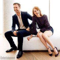Emma Stone and Ryan Gosling of #LaLaLand are totally adorable in our #TIFF photo studio. : @Amandamarsalis for EW and People