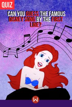 Take this quiz to see if you can identify the top 10 most famous Disney songs through their first line. Disney Song Quiz, Disney Movie Songs, Disney Animated Movies, Disney Facts, Disney Quotes, Disney Trivia, Disney Pixar, Quizzes For Kids, Fun Quizzes