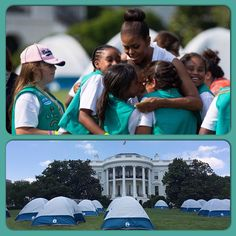 #WASHINGTON — Fifty #GirlScouts will get to pitch tents at the ultimate #campground next week — on the south lawn of the #WhiteHouse. First lady #MichelleObama is #hosting #Tuesday night's June 30, 2015 White House #campout as part of her #Let'sMoveOutsideinitiative The fourth-graders will be able to earn Girls' Choice Outdoor badges by doing rock climbing, tying knots, orienteering and pitching tents, among other activities. Later that night, #astronaut #CadyColeman will lead them in a #NASA stargazing activity. The girls are from councils in Maryland, Virginia, West Virginia, Oklahoma and the District of Columbia.