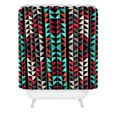 Caleb Troy Volted Triangles 02 Shower Curtain | DENY Designs Home Accessories