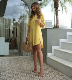 Alarming Facts About Beautiful Casual Dress Ideas for Women Exposed Type of Beautiful Casual Dress Ideas for Women Dresses are a simpl. Beautiful Casual Dresses, Trendy Dresses, Simple Dresses, Summer Dresses, Kohls Dresses, Dresses Dresses, Party Dresses, Yellow Dress Casual, Yellow Maxi