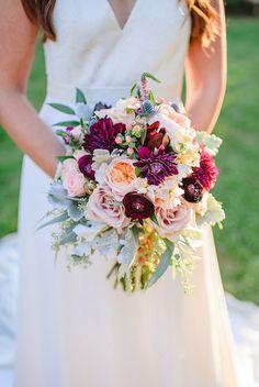 burgundy and blush bouquet | Brittney Nestle Photo | Glamour & Grace