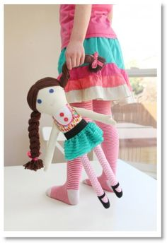 Girl & Boy FABRIC DOLLS (pattern pieces included)