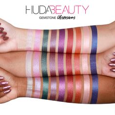 Shop Huda Beauty Obsessions Eyeshadow Palettes at Sephora. A range of compact eyeshadow palettes offering a complete day-to-night eye color wardrobe. How To Do Eyeshadow, Eyeshadow Tips, Natural Eyeshadow, Eyeshadows, Huda Beauty Eyeshadow Palette, Huda Beauty Makeup, Eye Makeup, Makeup Tips, Sombra Natural