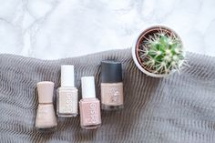 Today I am sharing my top four nude nail polish shades with you. Everything from Essie, to Rimmel London and Essence Cosmetics! Essence Cosmetics, Rimmel London, Nude Nails, Essie, Lifestyle Blog, Salons, Nail Polish, Shades, My Favorite Things