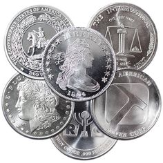 The one ounce silver rounds we offer are fully tested and guaranteed for weight and purity fine silver). Buy these silver rounds with confidence! Silver Eagle Coins, Silver Eagles, Bullion Coins, Silver Bullion, Metal Company, Coin Prices, Coin Shop, Coin Values, Rare Coins