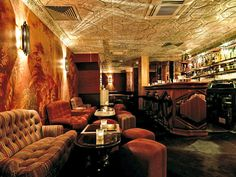 Savvy imbibers know that one of the city's best dance parties is hidden below the Beef Club restaurant. The Ballroom channels Belle Époque decadence, with elaborate ceilings, red patterned wallpaper, and plush sofas. 8 rue Jean-Jacques Rousseau; eccbeefclub.com