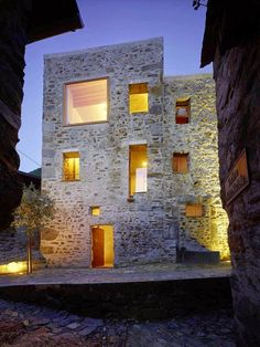 Historic Stone House in Switzerland by Wespi de Meuron Romeo-Historic Stone Hous. Historic Stone House in Switzerland by Wespi de Meuron Romeo-Historic Stone Hous.- Historic Stone House in Switzer Architecture Renovation, Architecture Résidentielle, Contemporary Architecture, Old Stone Houses, Design Exterior, Stone Exterior, Stone Facade, Brick And Stone, Stone Walls