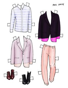 DANIELLE MEDER SS14 Menswear Paper Doll – John Varvatos and PAUL SMITH 2