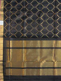 Uppada Saree OG or grill design, Uppada black colo