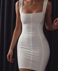 Sexy and stunning white con dress short dresses, cute dresses, beautiful K Fashion, Fashion Beauty, Fashion Looks, Fashion Outfits, Womens Fashion, Fashion Clothes, Trendy Fashion, Fashion Ideas, Luxury Fashion