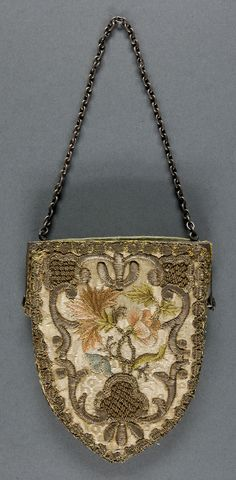 Purse  Artist/maker unknown, Italian  Geography: Made in Italy, Europe Date: 17th century Medium: Embroidered satin