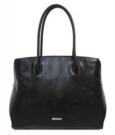 Claudio Ferrici Businesstasche Damen schwarz Glattleder - Bags & more Rind, Tote Bag, Bags, Fashion, Leather Cord, Sachets, Silver, Handbags, Moda