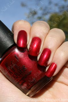 """This is my """"go to"""" red. .OPI """"I'm Really Not A Waitress"""" Red.  This is my color... When I told Melanie the color...she said ...no Mom..Your a carhop...not a waitress...FOTFLMAO  (Only a few will get this)"""