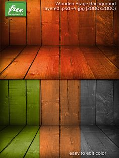 Wooden Stage Background