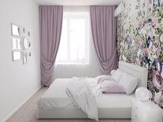 Small room bit its look like luxurious room. Small Room Bedroom, Home Bedroom, Bedroom Decor, Purple Bedrooms, Bedroom Colors, Home Room Design, House Design, Interior Design Living Room, Living Room Designs