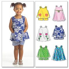 McCall's Pattern Toddlers' Tops, Dresses and Shorts, All Sizes in 1 Envelope: Crafts : Walmart.com. Cut it longer to make a dress?
